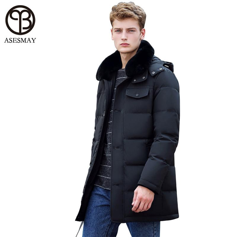 7053f13d44d5 2019 Asesmay 2017 Stylish Winter Jackets Men Goose Feather Coat Men Brand  Down Jackets Hood Mens Down Parka Thick Wellensteyn Jacket From Bailanh
