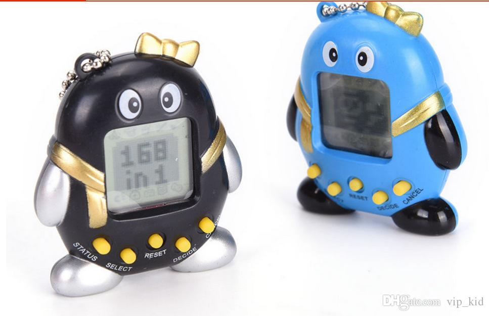 Penguin-type electronic pet game 168 animals in one classic handheld game console Electronic Pets V 002