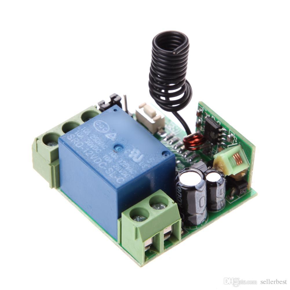 ALLOYSEED Universal Funk DC 12V 10A 433MHz Fernbedienungsschalter Sender mit Funkfernbedienungsempfänger