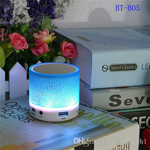 Night Light LED USB FM Color Loudspeakers Portable Box Subwoofer Support TF Wireless Bluetooth Speaker as christmas promotion gift