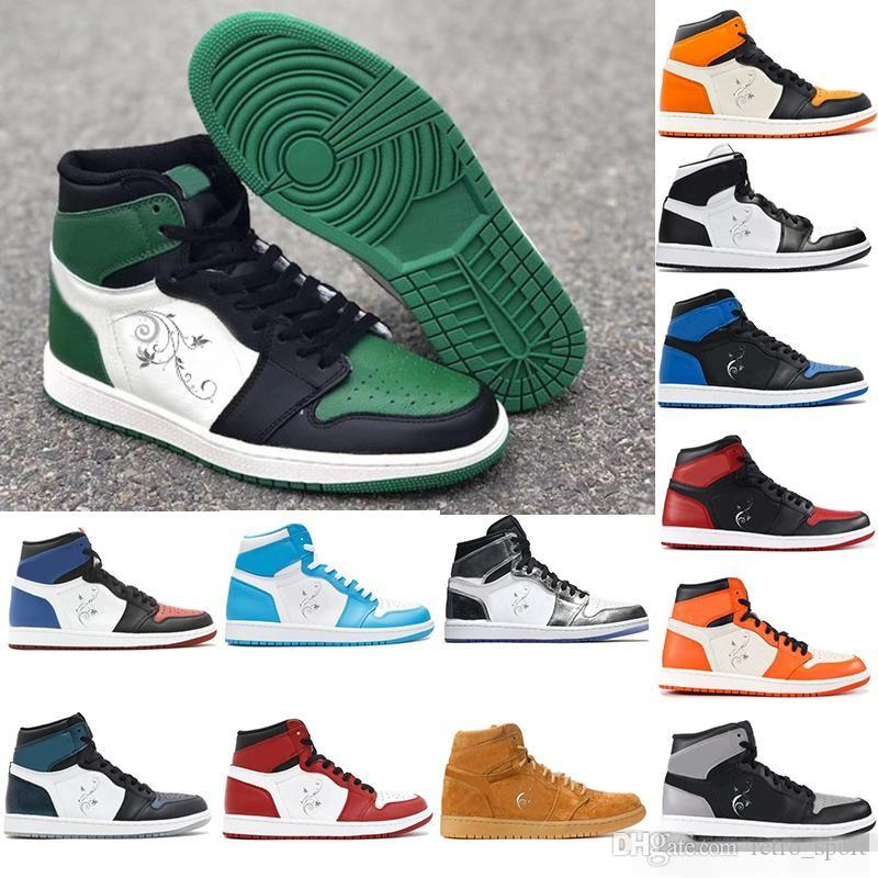 2018 Pine Green Top 3 Mens Basketball Shoes For Men OG 1 UNC All Star  Chameleon Designer Sneakers Women Trainers Sports Shoes Size5.5 13 Best  Basketball ... eaf926b0e0
