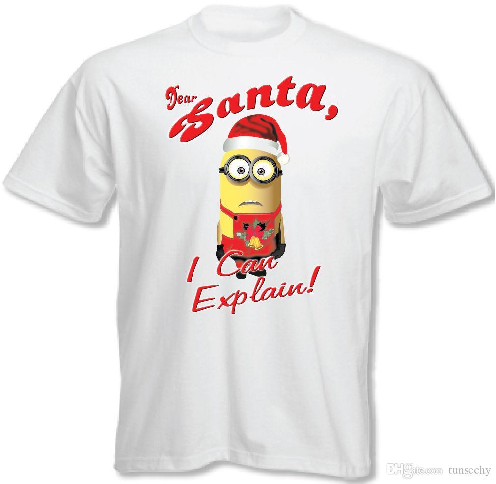 e6e4e5d3c Dear Santa, I Can Explain Kids Funny Minions T Shirt Minion Christmas Xmas  XS W Online T Shirt Buy Joke T Shirt From Customteemall, $11.0| DHgate.Com