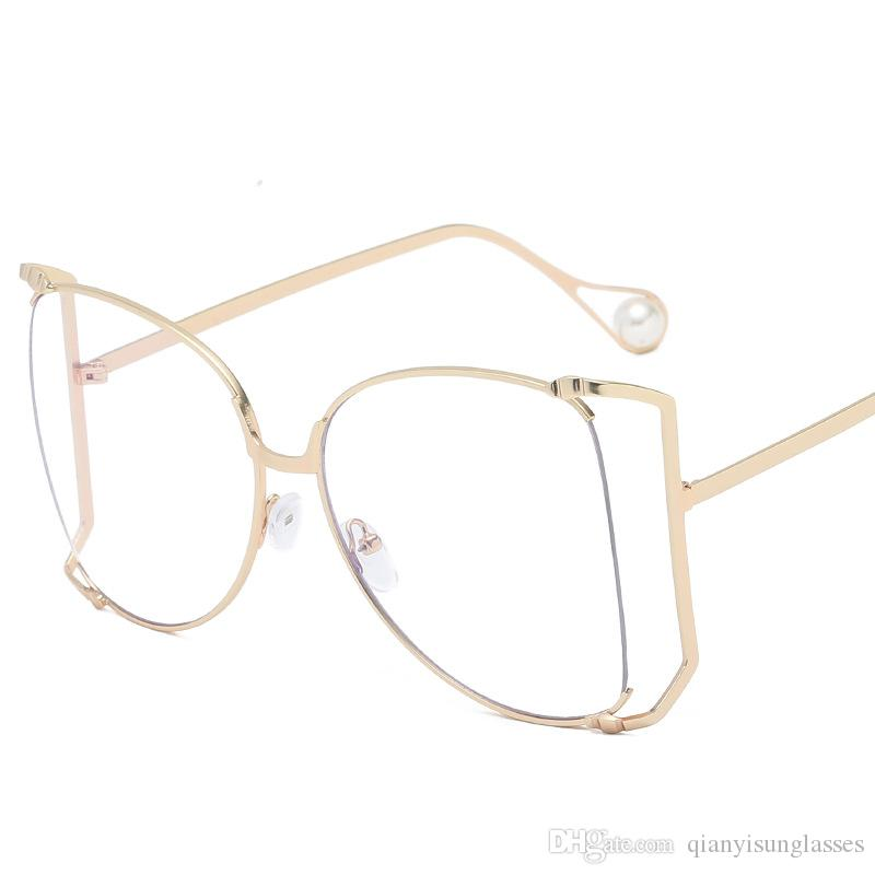 5a17118ad9 Luxury Designer Sunglasses For Women Decoration Half Frame Women Cat Eye  Sunglasses Fashion Oversized Sun Glasses Ladies Clear Pink Shades Sunglasses  At ...