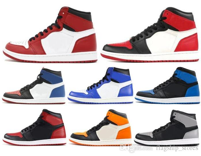ba28cc089239 New 1 High OG Game Royal Banned Shadow Bred Toe Basketball Shoes Men 1s  Shattered Backboard Silver Medal Sneakers High Quality US8 13 Best Basketball  Shoes ...