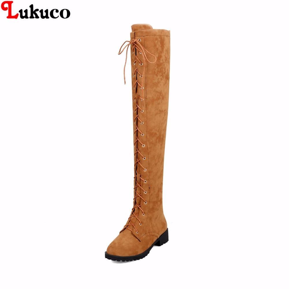 e69bc807dc2 Compre Nuevo Sobre La Rodilla Botas De Tacón Botas Para Mujer Botas De Gran  Tamaño 38 39 40 41 42 43 44 45 46 Zapatos De Moda Sexy 2018 Botas De Montar  A ...