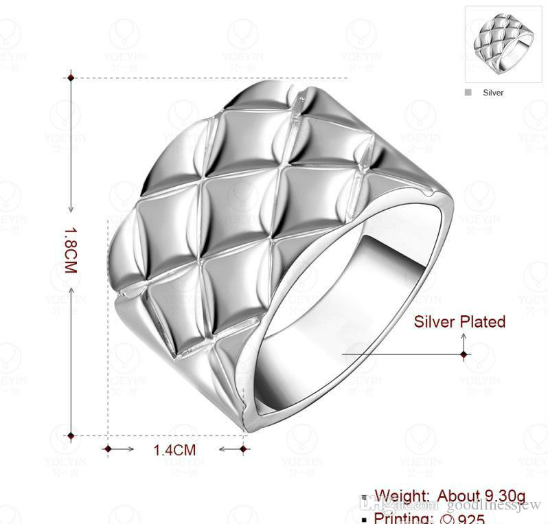 Men Best Gift for Valentine's Day China Wholesale Fashion Jewelry 925 Silver Plated Wedding Rings Men's Rings