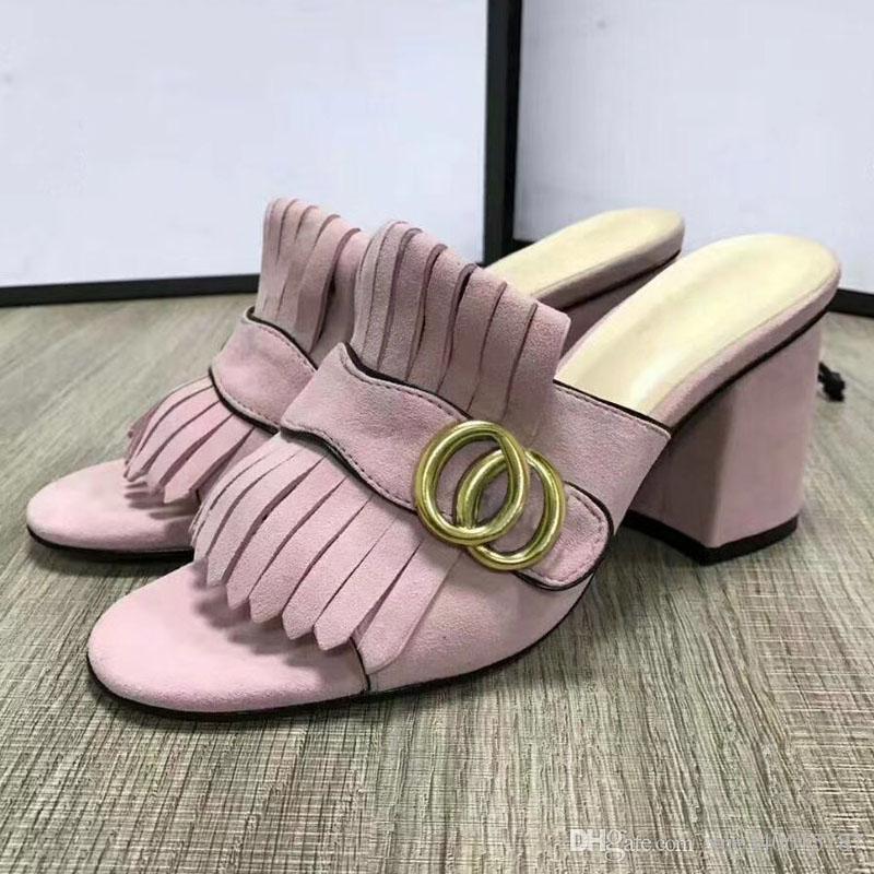 heiße verkaufende Frauen starke Absatzsandelholze beschuht beiläufige starke untere Sandelholze des Büros Dame fersen Mädchenmode schwarze Schuhe