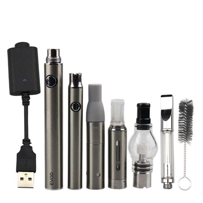 EVOD MT3 4 em 1 vaporizador kits pré-aquecimento da bateria bobina cerâmica CE3 pirex de vidro Cartucho seco Herb Wax Atomizadores multi-Vape Pen Kits