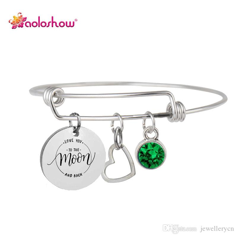 2018 Teacher Gifts For Women Expandable Wire Bracelet Charms Inspirational Engraved Personalized Birthstone Bracelet Graduation Gift Femme From Jewellerycn ...  sc 1 st  DHgate.com & 2018 Teacher Gifts For Women Expandable Wire Bracelet Charms ...