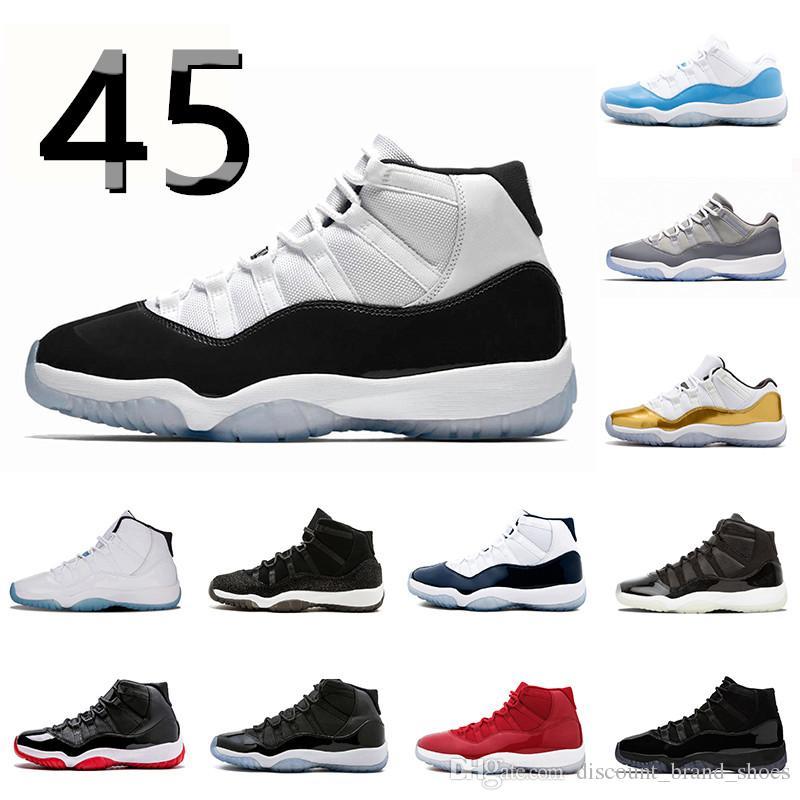 152b66bc960a4 Cheap 11 Concord High 45 Basketball Shoes 11s Women Men PRM Cap And ...