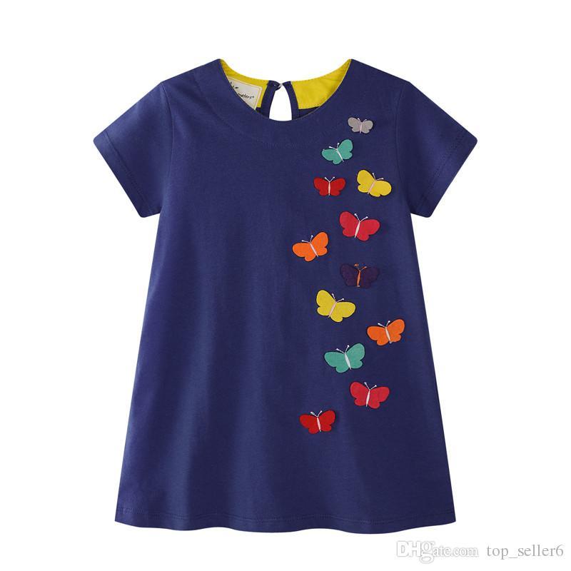Großhandel Mode Marken Mädchen Kleidet Normallack Mit Schmetterlings ...