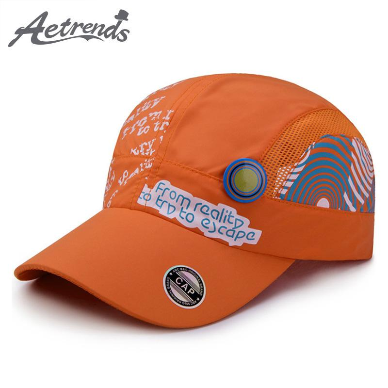 AETRENDS 2018 New Summer Girls Boys Hats Quick Dry Kids Baseball Caps Thin  Breathable Snapback Bone Gorras Z 6508 Baby Cap Embroidered Hats From  Huazu db526cd108e1