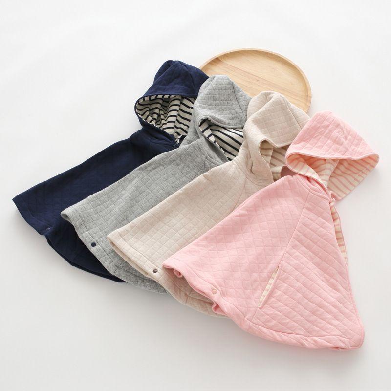 1a81e8f8188d Baby Pure Cotton Autumn Coat Children s Cloak Cape Air Layer out to ...