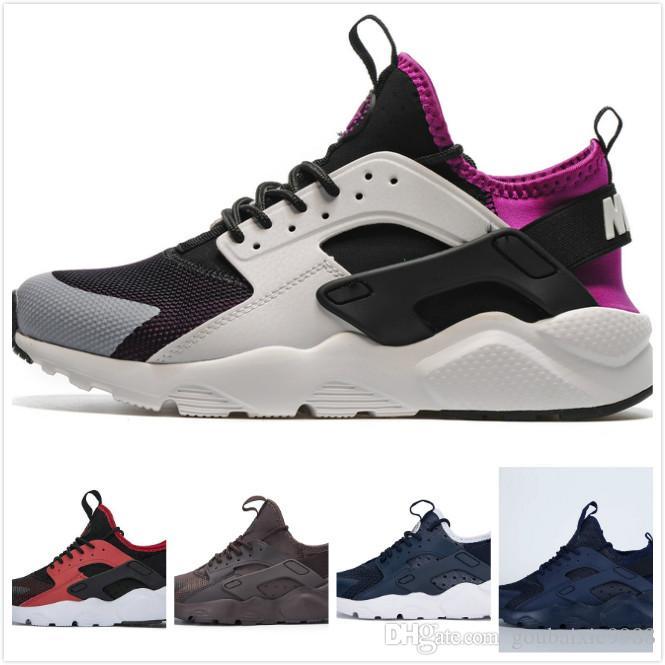 best service 365fe ad3ac Acquista 2019 Air Huarache 4 Uomo Donna Scarpe Da Corsa All White Huraches  Zapatos Ultra Breathe Huaraches Mens Scarpe Da Ginnastica Hurache Sports  Sneakers ...