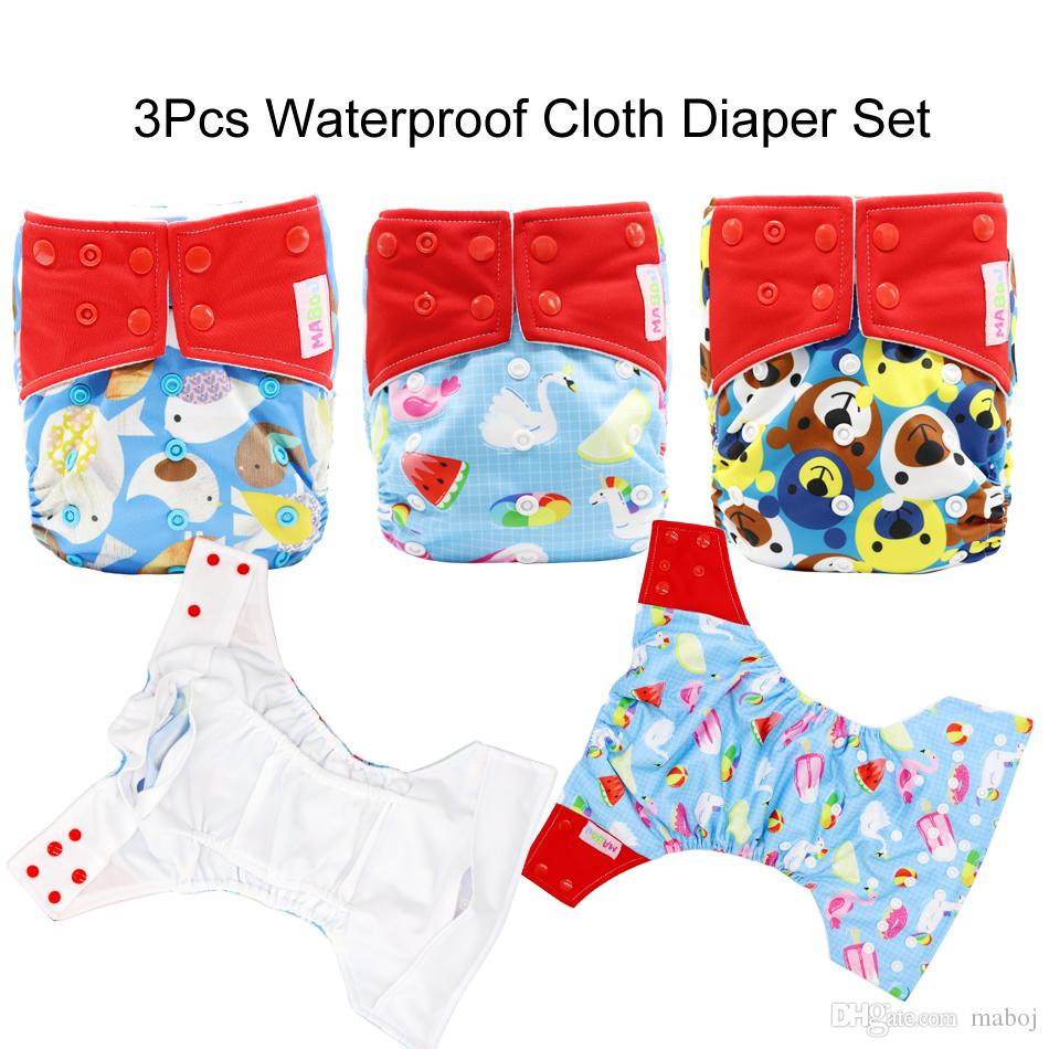2019 Maboj Unisex Baby Cloth Pocket Diapers Double Gusset Size One
