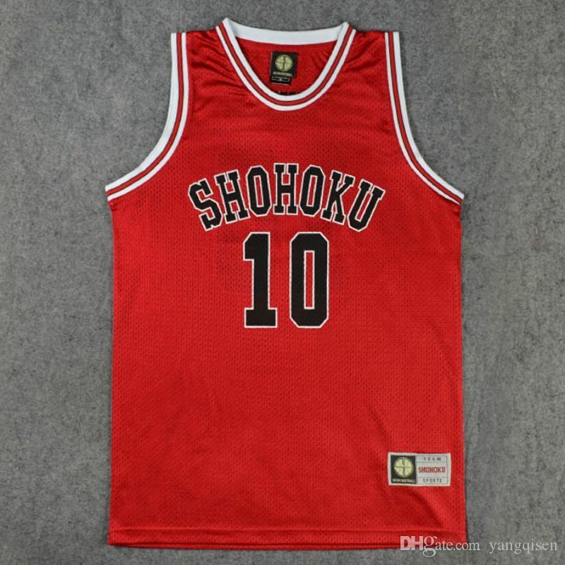 Anime Slam Dunk Shohoku Baloncesto Sakuragi Hanamichi Cosplay Uniforme Jersey Slam Dunk NO.10 Jersey Power Forward Clothes Sport