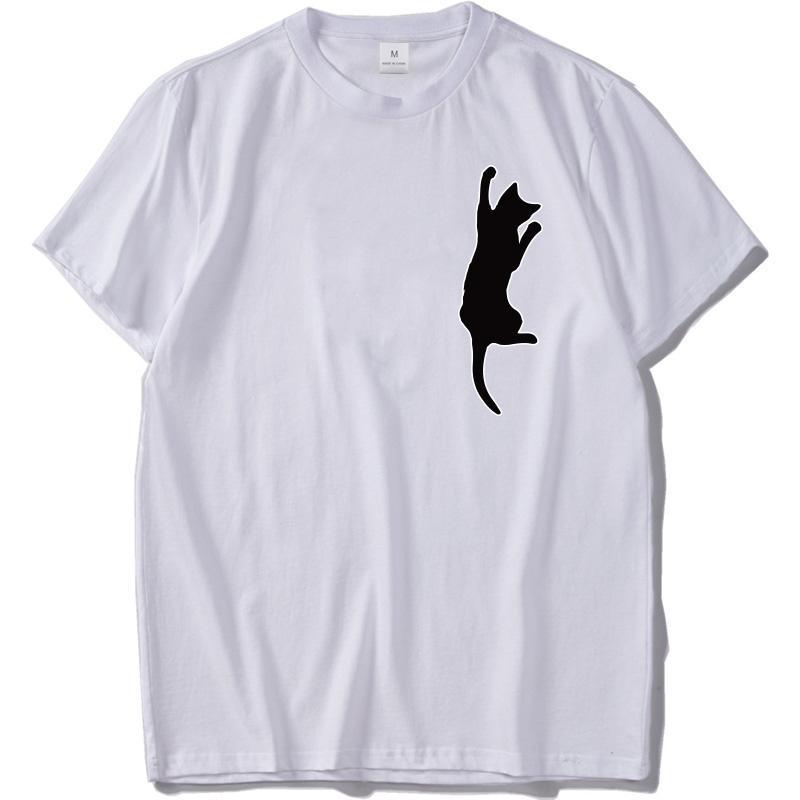 b98349c2f Cute Cat Print T Shirt Male Kawaii Funny Graphic Tees 100% Cotton Casual  Tshirt Black White Short Sleeve O Neck Tee Shirt Homme Link Shirts T Shirt T  From ...