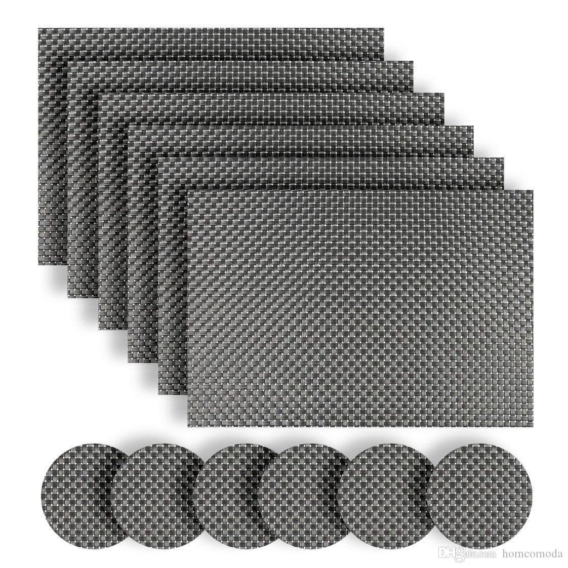 2019 table mats pvc place mats vinyl placemats and coasters set of 6