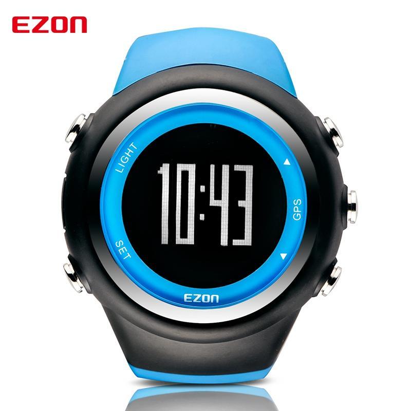 5baf8ef7d100 Compre EZON T031 GPS Distancia Velocidades De Velocidad Monitor Hombres  Relojes Deportivos Impermeable 50M Reloj Digital Correr Reloj Montre Homme  A  103.56 ...