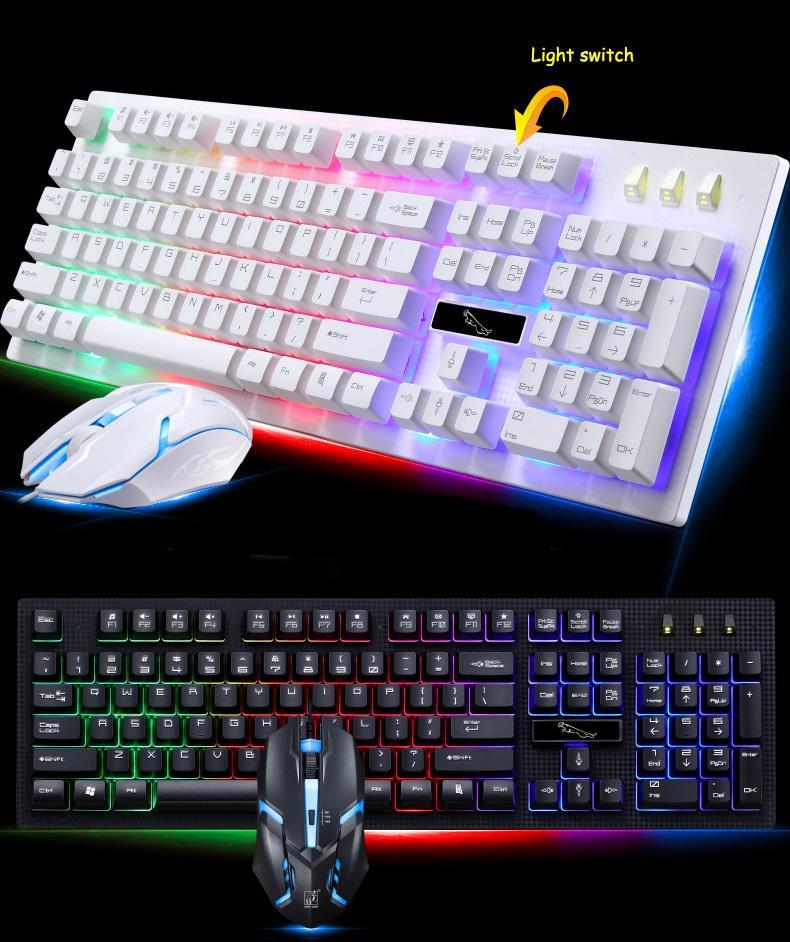 348451dbdac Großhandel XMING Wired USB PC Gamer Mechanische Anhänger Fühlen Tastatur  Und Maus Set Photoelektrische Laptop Tastatur Mit Hintergrundbeleuchtung Von  ...