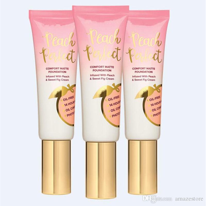 New Hot makeup Foundation Peach perfect comfort matte foundation 48ml Face cream Foundation High quality DHL shipping