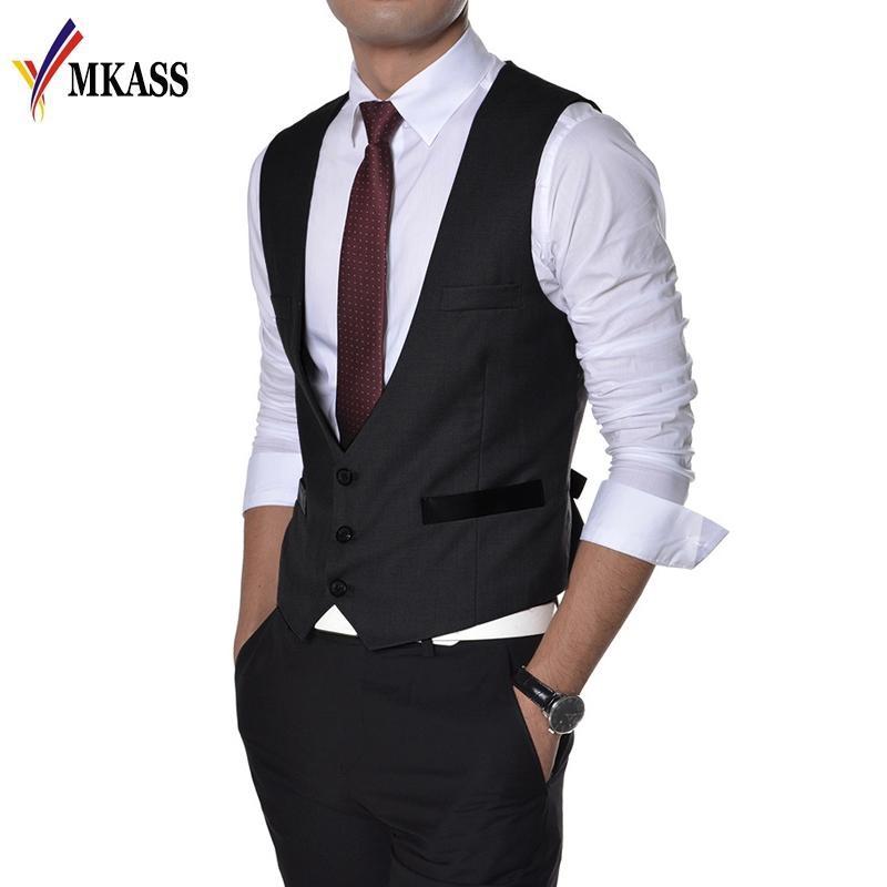 2018 Mens Vests Suit 2017 Sleeveless Male Waistcoat For Vest ...