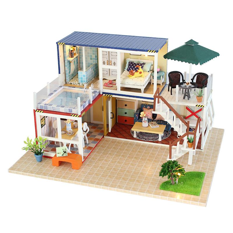3d Diy Miniature Dollhouse Handmade Wooden Dollhouse Assembly Model