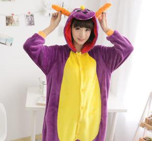 Kigurumi Unisex Adult Children Animal Pajamas Cosplay Costume Flannel Onesie Sleepwear Panda Dragon Totoro Unicorn Raccoon Coon