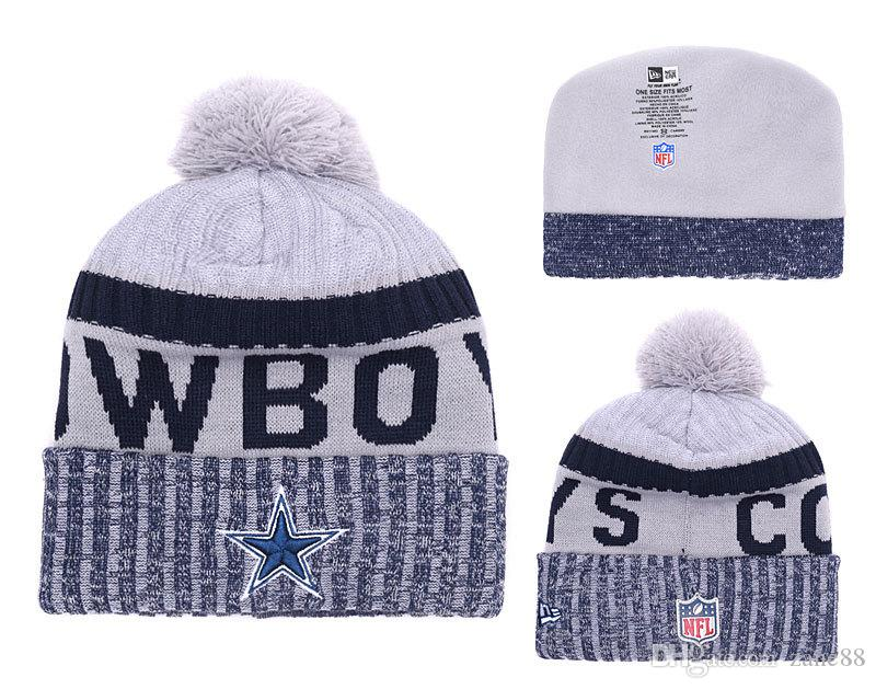 3d99e62dafb Football Knitted Wool Real Natural Fur Pompon Hat Female Winter ...