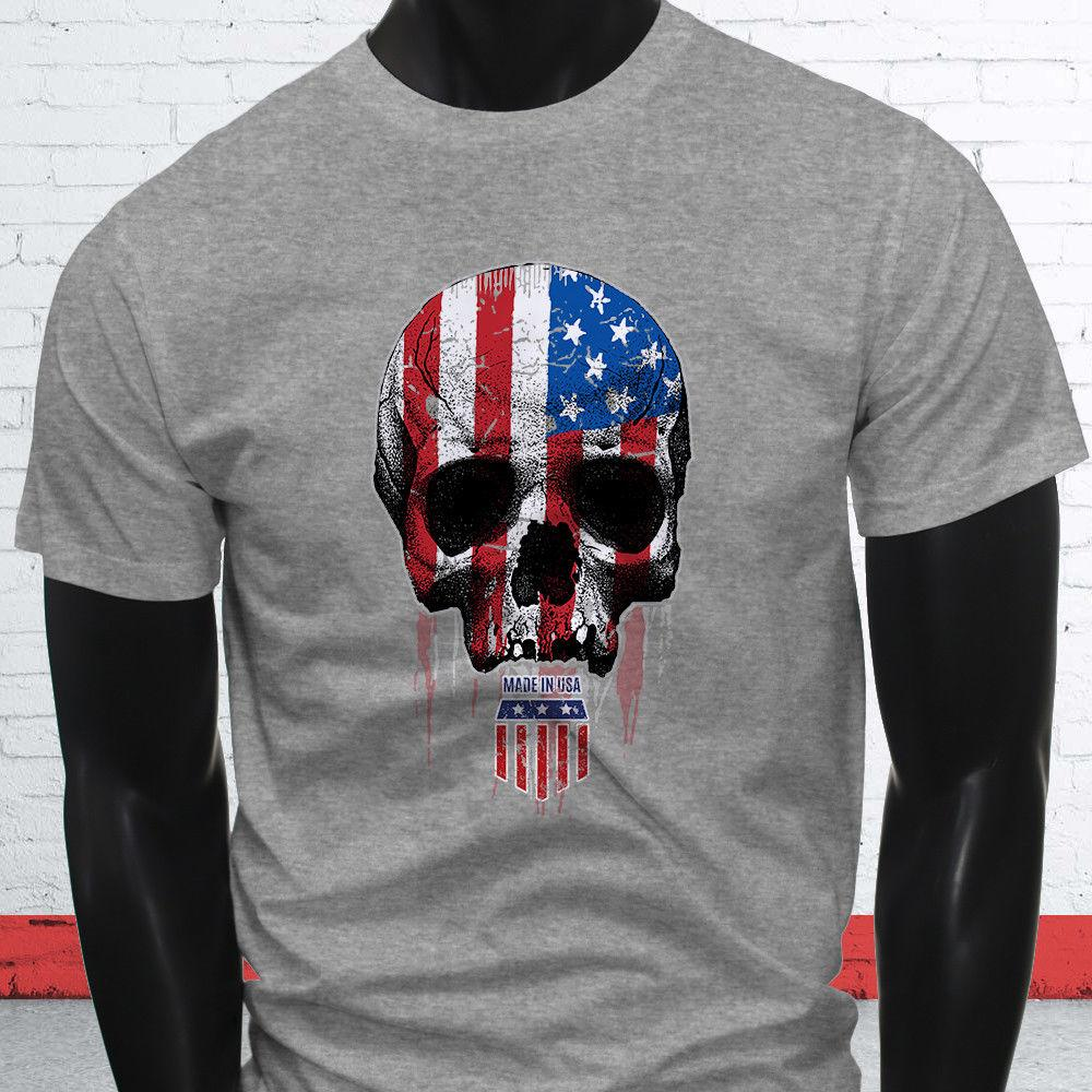 dae3d214 AMERICAN BADASS SKULL FLAG PATRIOT FREEDOM PROUD Mens Gray T Shirt Funny  Unisex Casual Funny Print Shirts White T Shirt Designs From  Afterlightclothing, ...