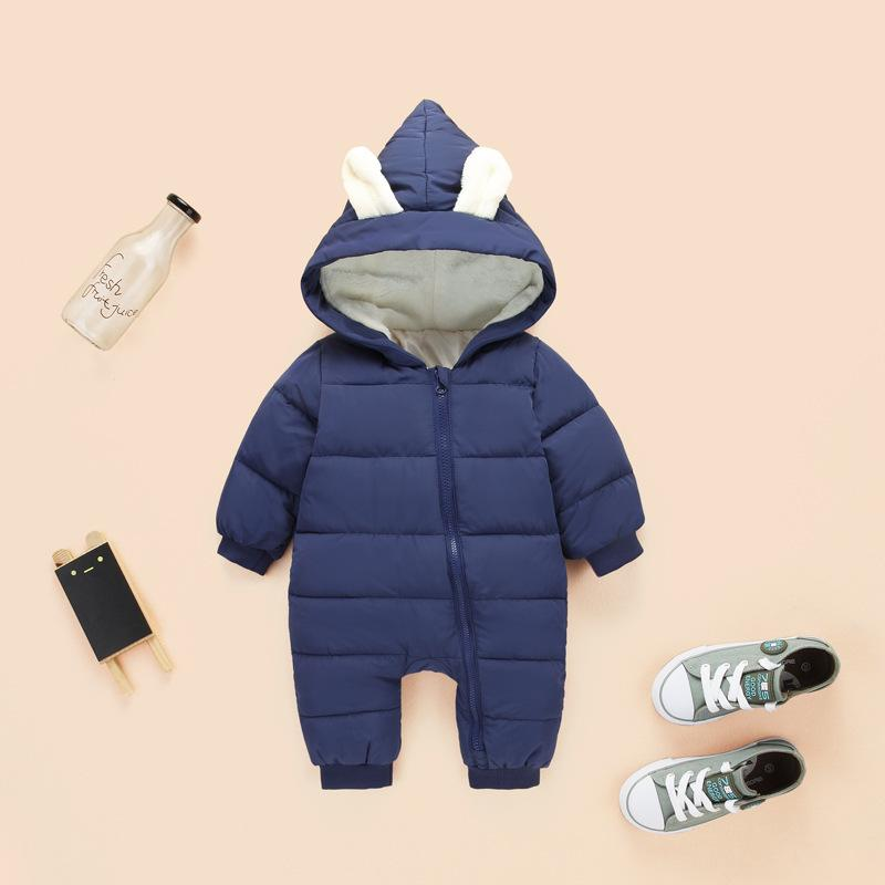 d93956171673 2019 Newborn Overalls Toddler Winter Warm Romper Baby Girl Boy ...