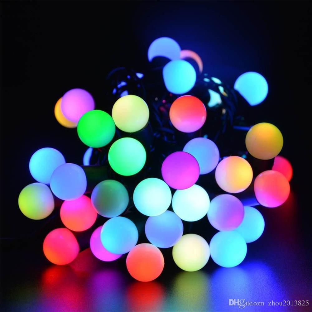 small white ball solar string light 30 led waterproof solar power string lights for partygardensoutdoorholiday decorationsmulticolor ball string lights