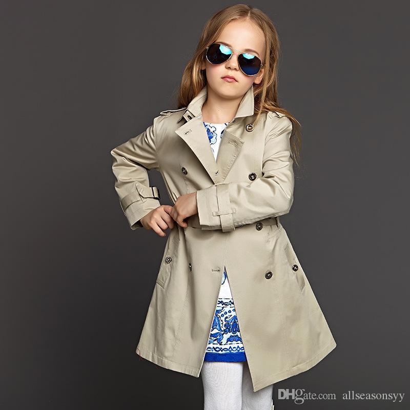 49d6f9332 Kids Trench Coat Jacket Girls Windbreaker Long Parka Outerwear Belt Buckle  Cloak Outfits Children Clothes Child Outerwear Jackets For Teenagers Boys  Little ...