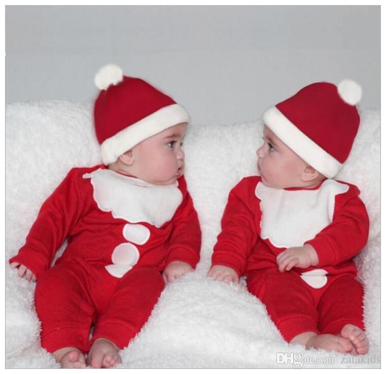 Compre Bebé Recién Nacido Navidad Mono Sombrero Niños Niñas Niños Mamelucos  Traje Traje Ropa De Navidad A  6.19 Del Zalakids  ec999d3b9bf4