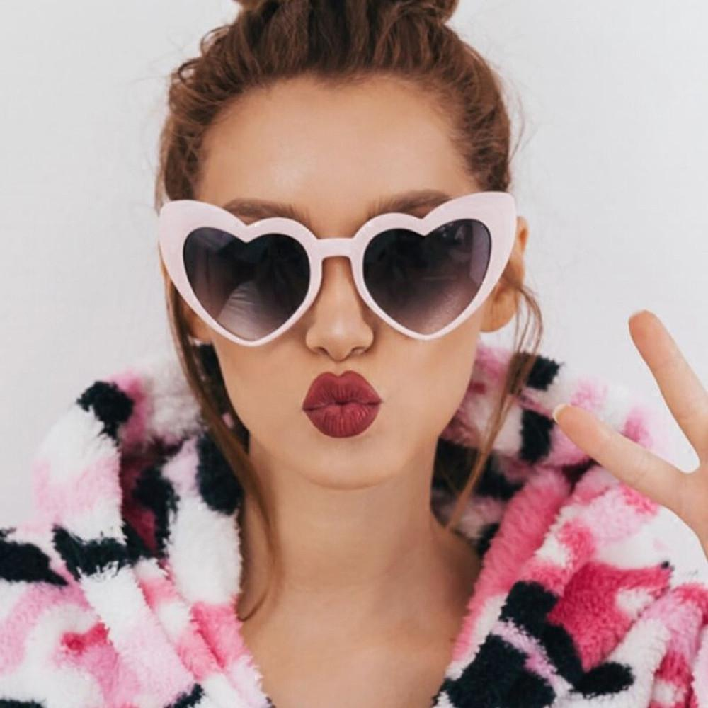 Rose Gold Heart Eye Sunglasses For Women Pink Mirror Shades Female Sun  Glasses Black White Coating Cateye Aviation Oculos 2018 Eyewear Designer  Sunglasses ... aa49323c69