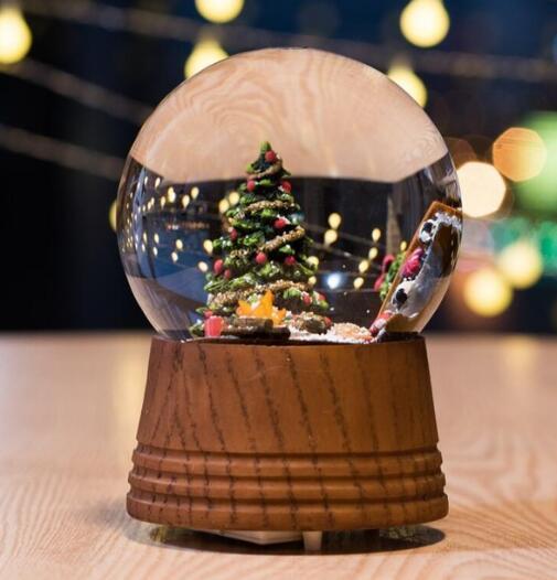 Music box creative home furnishing Christmas fireplace