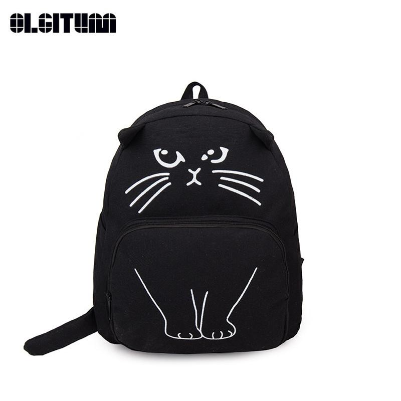 New Funny Cat Backpack Women Casual Cute Bag School Bags For Teenagers  Fashion Women Canvas Backpack SC006 Rucksack Jansport Backpacks From  Cutemerry 0090eaa077a12