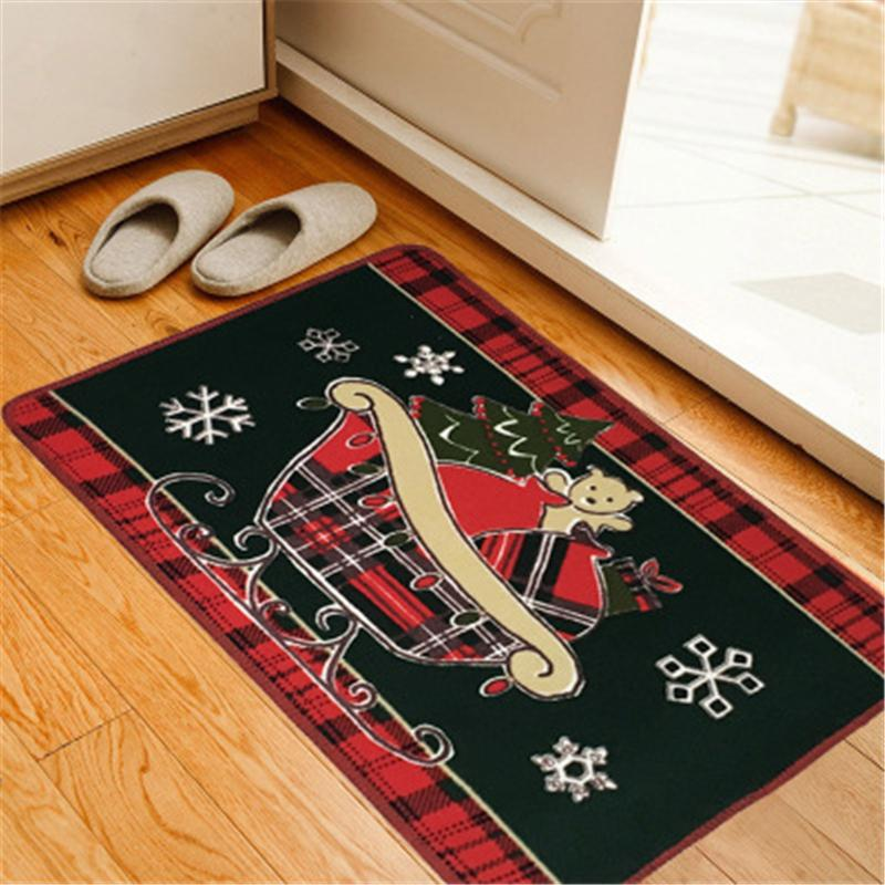 2019 Living Room Kitchen Doormat Cartoon Rugs For Kitchen Christmas