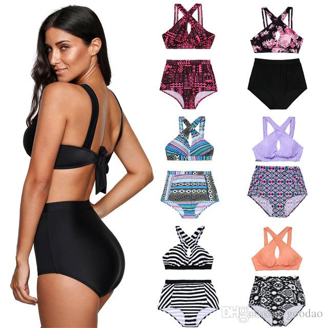 d4924f3b3e428 Bohemia 5 Deisgns XL~4XL Plus Size Swimwear Bikini Women Clothing Two  Pieces Outfit Bodysuit Bathsuit Maillot De Bain Trajes De Baño Plus Size  Swimwear ...