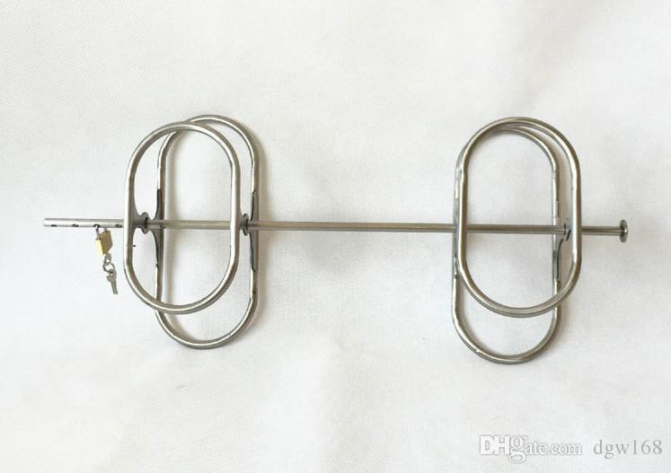 New BDSM Stainless Steel Restraint Arm Elbow Handcuffs Manacle Wrist Bondage With Lock Adult Slave Bdsm Product Sex Toy
