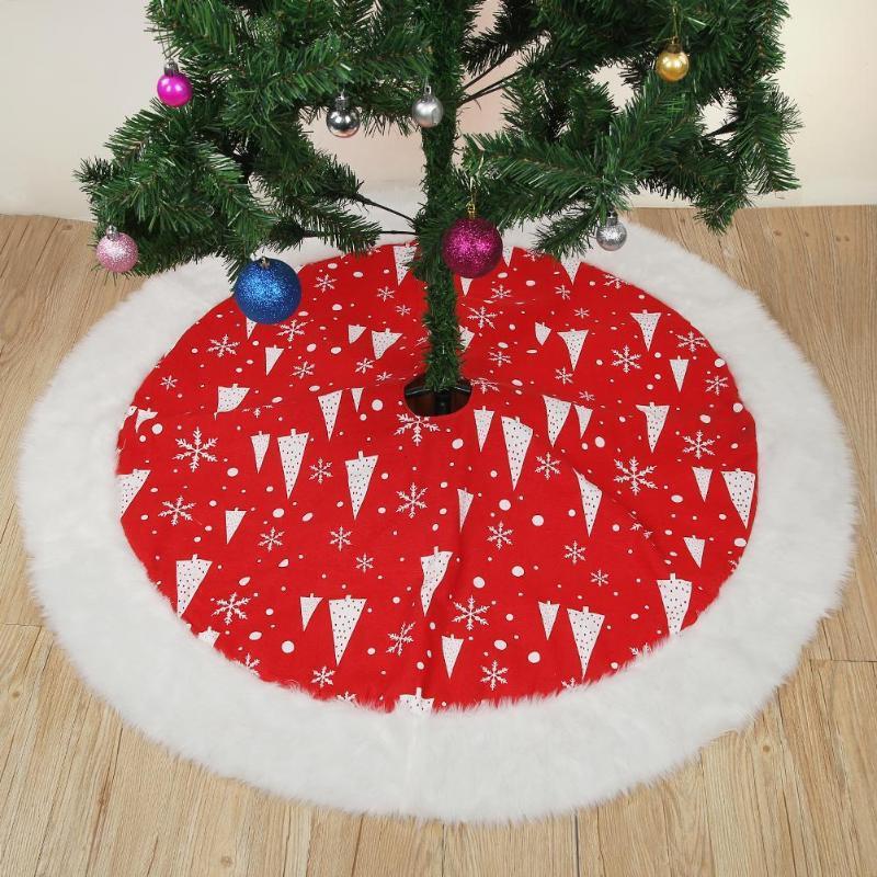 Weihnachtsbaum Rot.127 Cm Rot Weihnachtsbaum Rock Teppich Party Ornamente Weihnachtsdekoration Für Zuhause Vlies Weihnachtsbaum Rock Schürzen Preis Us