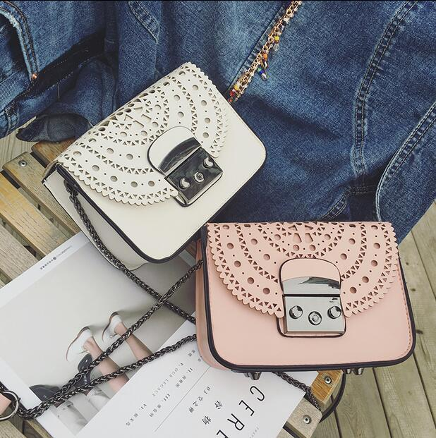 908bf987a0 New Style Fashion Women Small Bags Hollow Out Leather Women ...