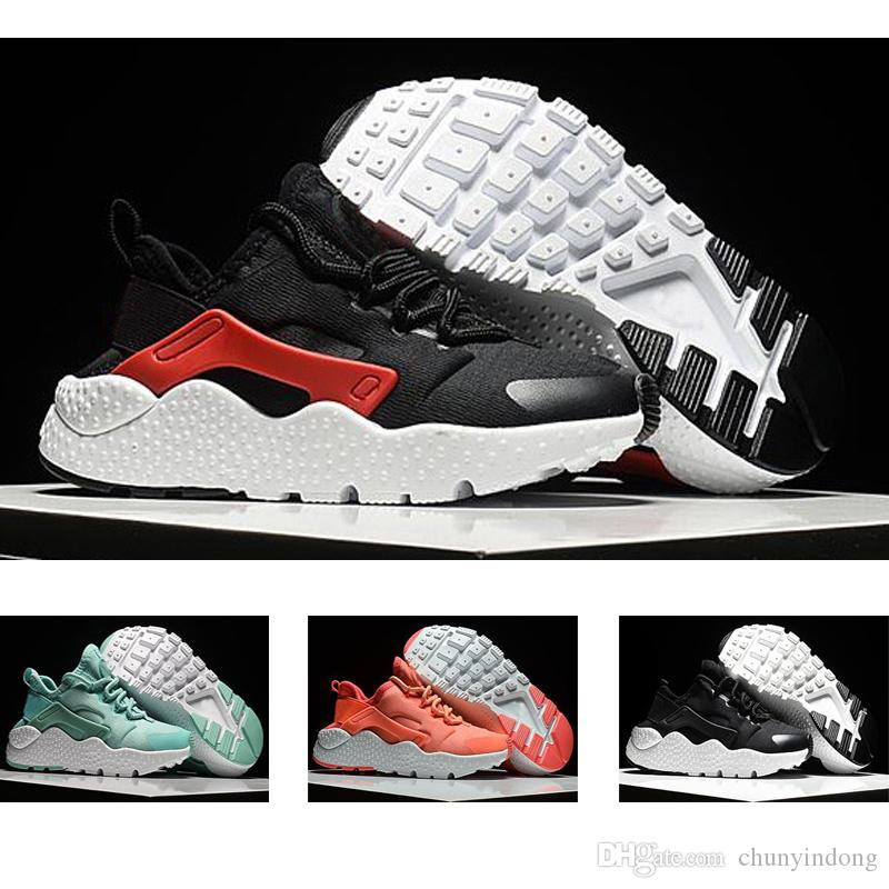 3498136b479 2018 Black Red Air Huaraches Kids Running Shoes For Boys Girls White Blue Sneakers  Huarache Children S Trainers Sport Shoes Size 11C 3Y Best Shoes For ...