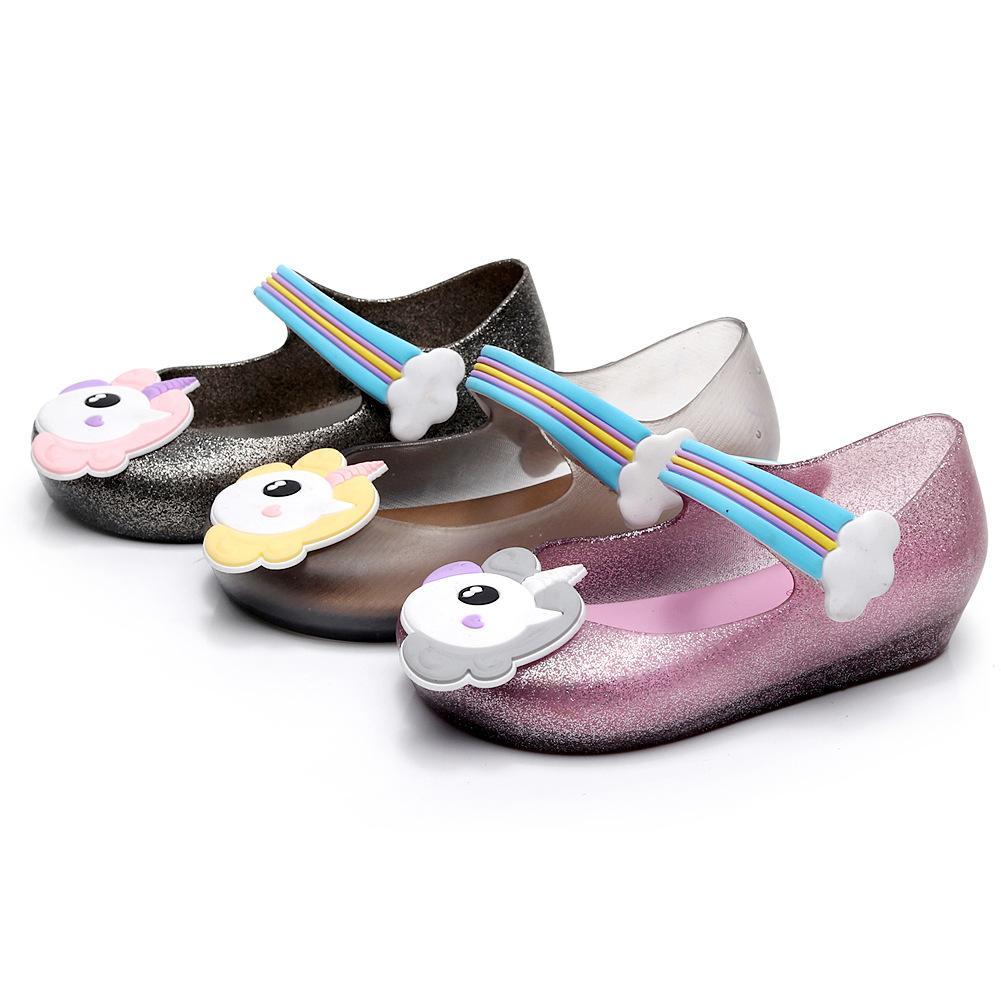 f3c52659 Compre es Unicornio Zapatos Zapatos De Gelatina Unicornio Sandalias Niña  Niño Zapatos Antideslizante Unicornio Sandalias De Dibujos Animados 2 Unids  / Par ...