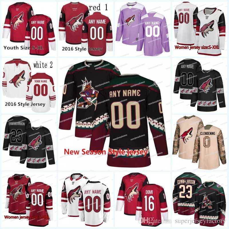 90833ea60 ... discount 2018 new season arizona coyotes jersey 15 brad richardson 21  derek stepan 20 dylan strome