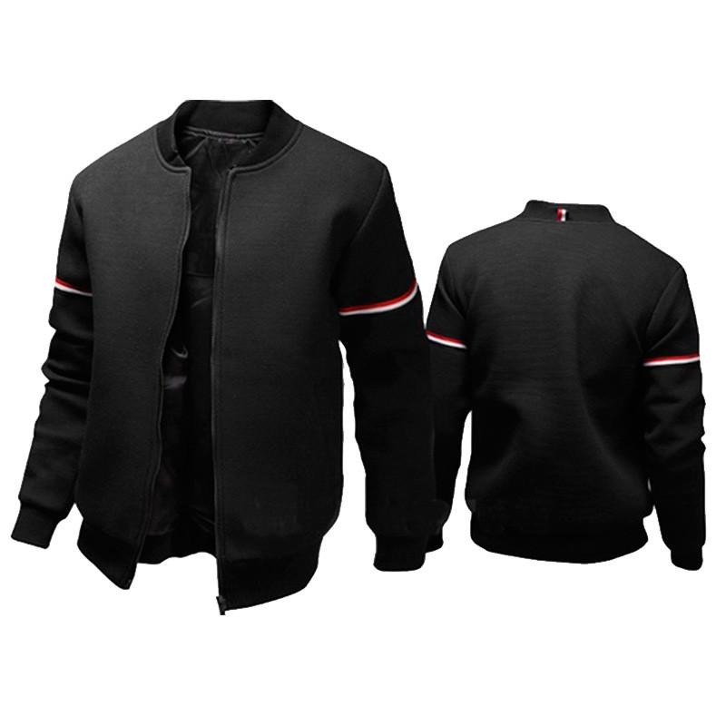 562d3969 2018 Fashion Men's Jacket Casual Style Slim Stand Collar Polyester Long  Sleeve Design Zipper Spring Autumn Outdoor Coats M-XXXL New Arrivals