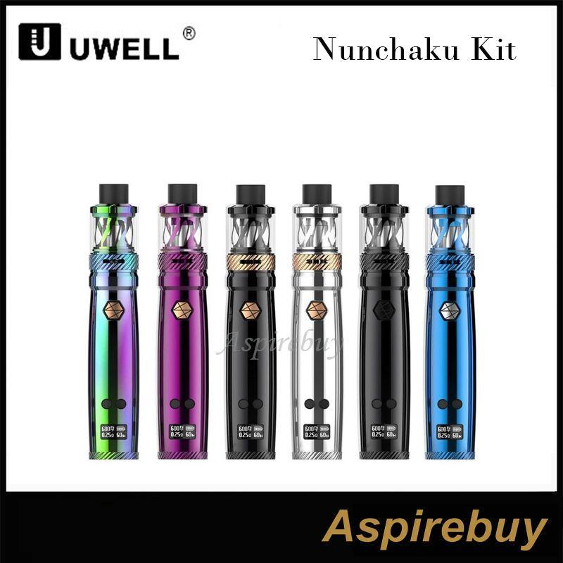 Uwell Nunchaku Kit 80w TC Vape Nunchaku Mod с емкостью 5 мл E-Juice размер кармана распылителя Nunchaku с эргономичным дизайном 100% оригинал