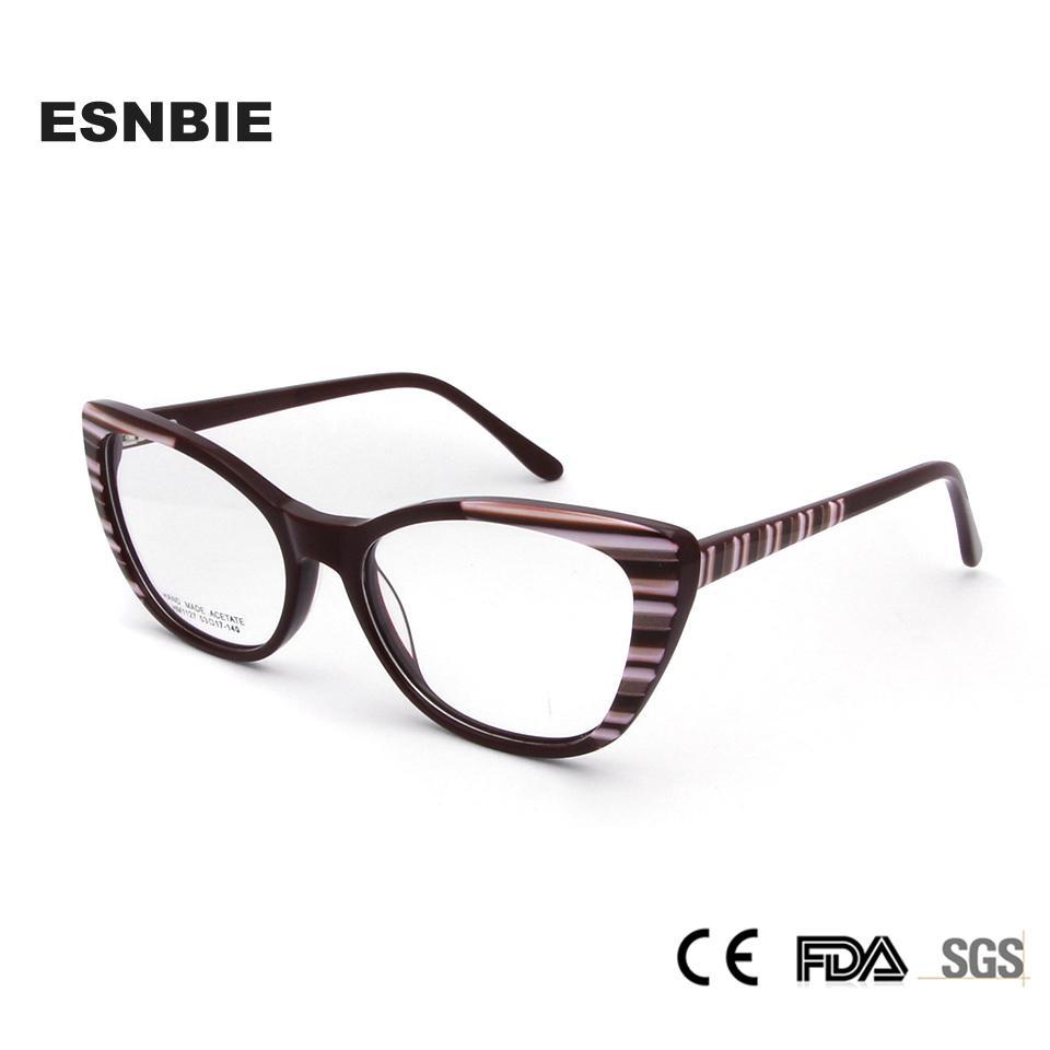 320743928686f Compre ESNBIE 2018 Armações De Óculos De Olho De Gato Para As ...