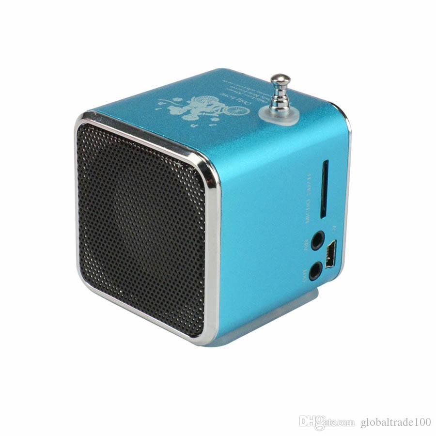 TD-V26 Mini Speaker Portable Digital LCD Sound Micro SD/TF FM Radio Music Stereo Loudspeaker For Laptop Mobile Phone MP3