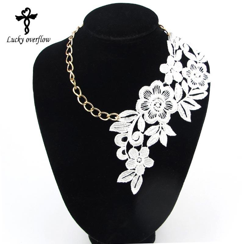 whole sale2017 Fashion Gothic Handmade Choker Necklace Vintage Elegant Lace Flower Pendant Wedding Jewelry For Women Collar Statement Gift